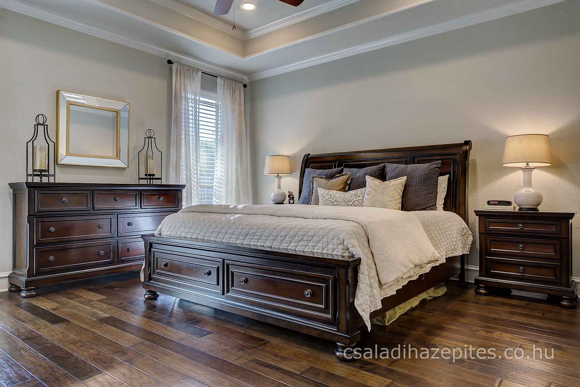 Hálószoba felújítás retró bútorok