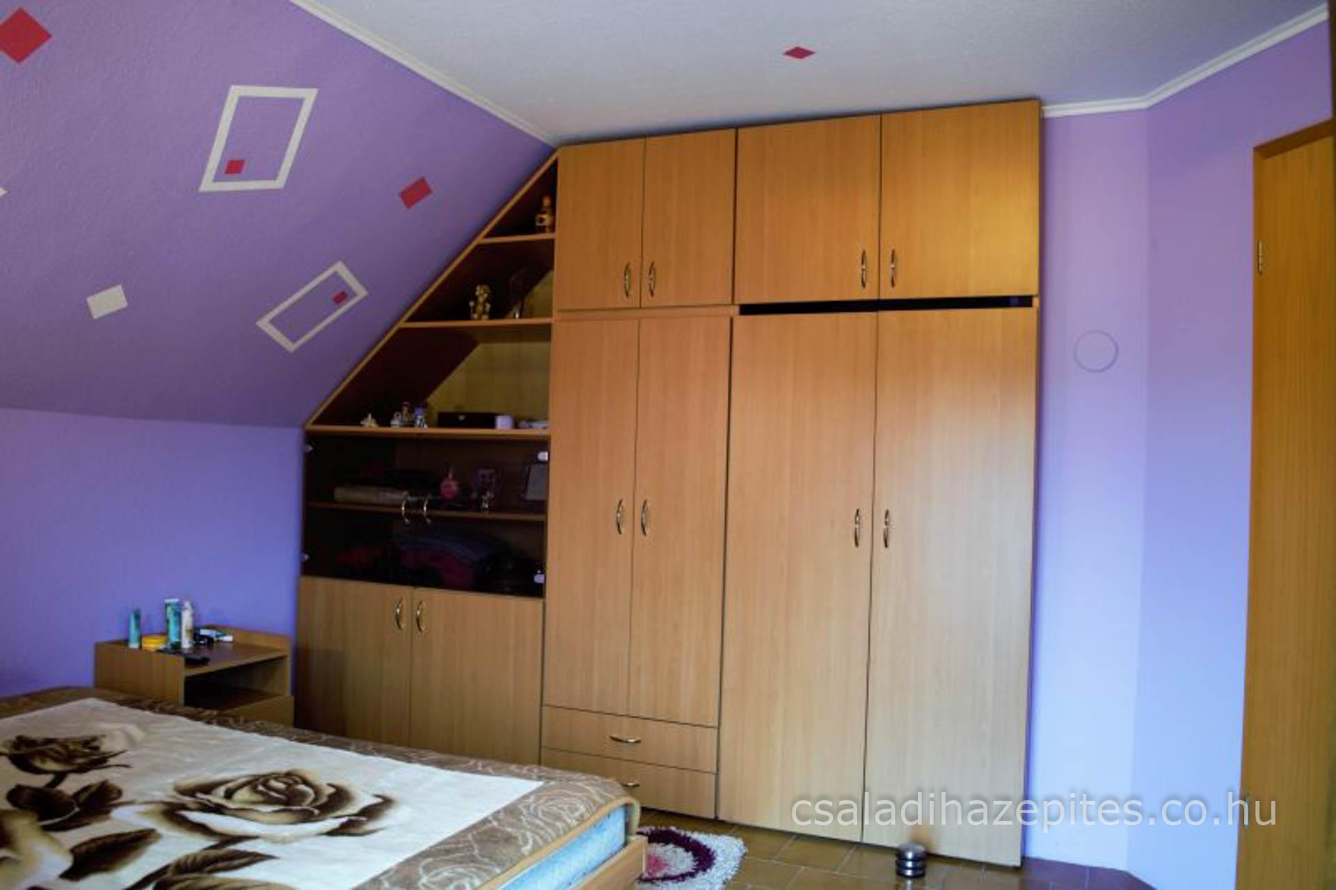 Hálószoba felújítás ruhás szekrény