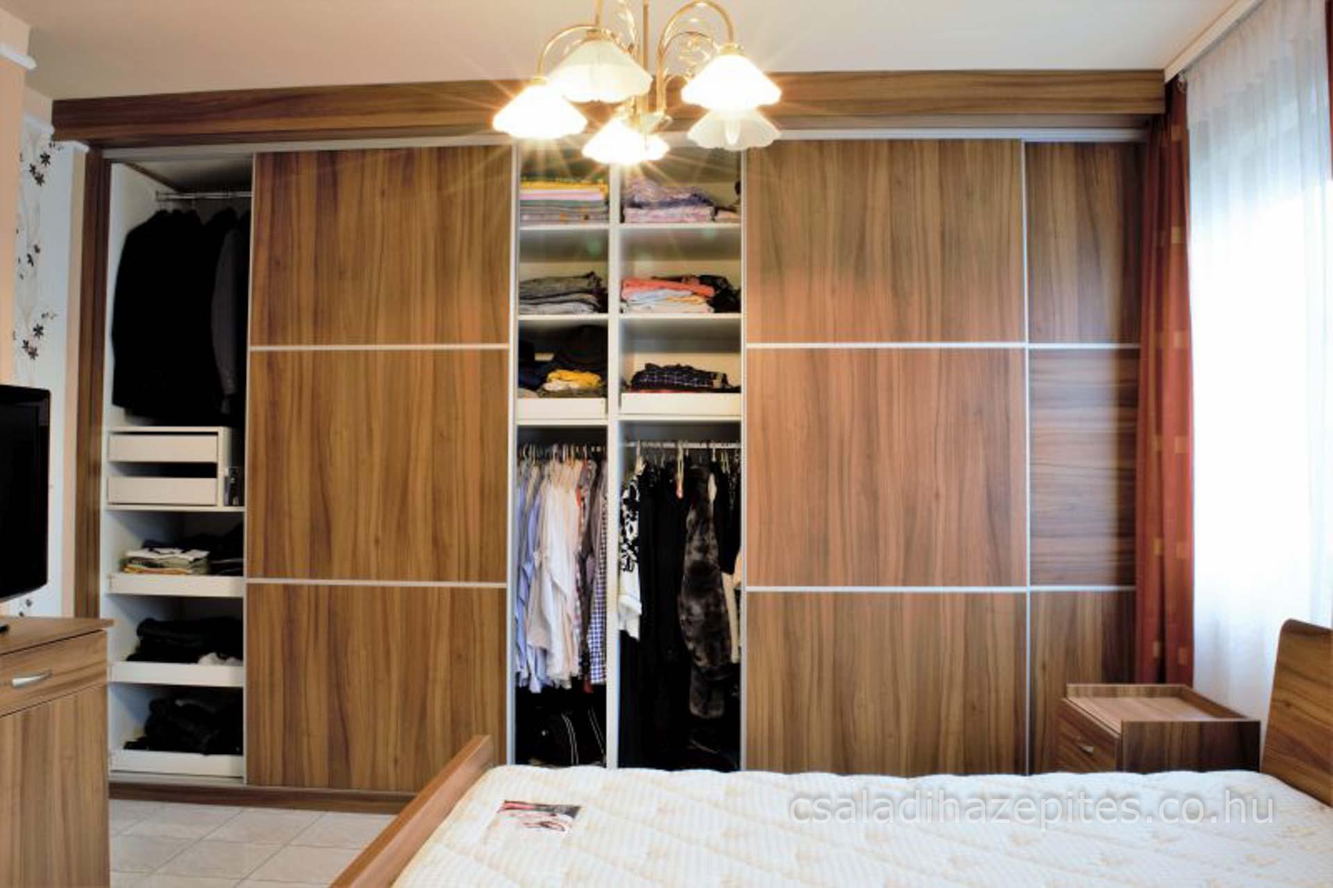 Hálószoba felújítás tolóajtós gardrob